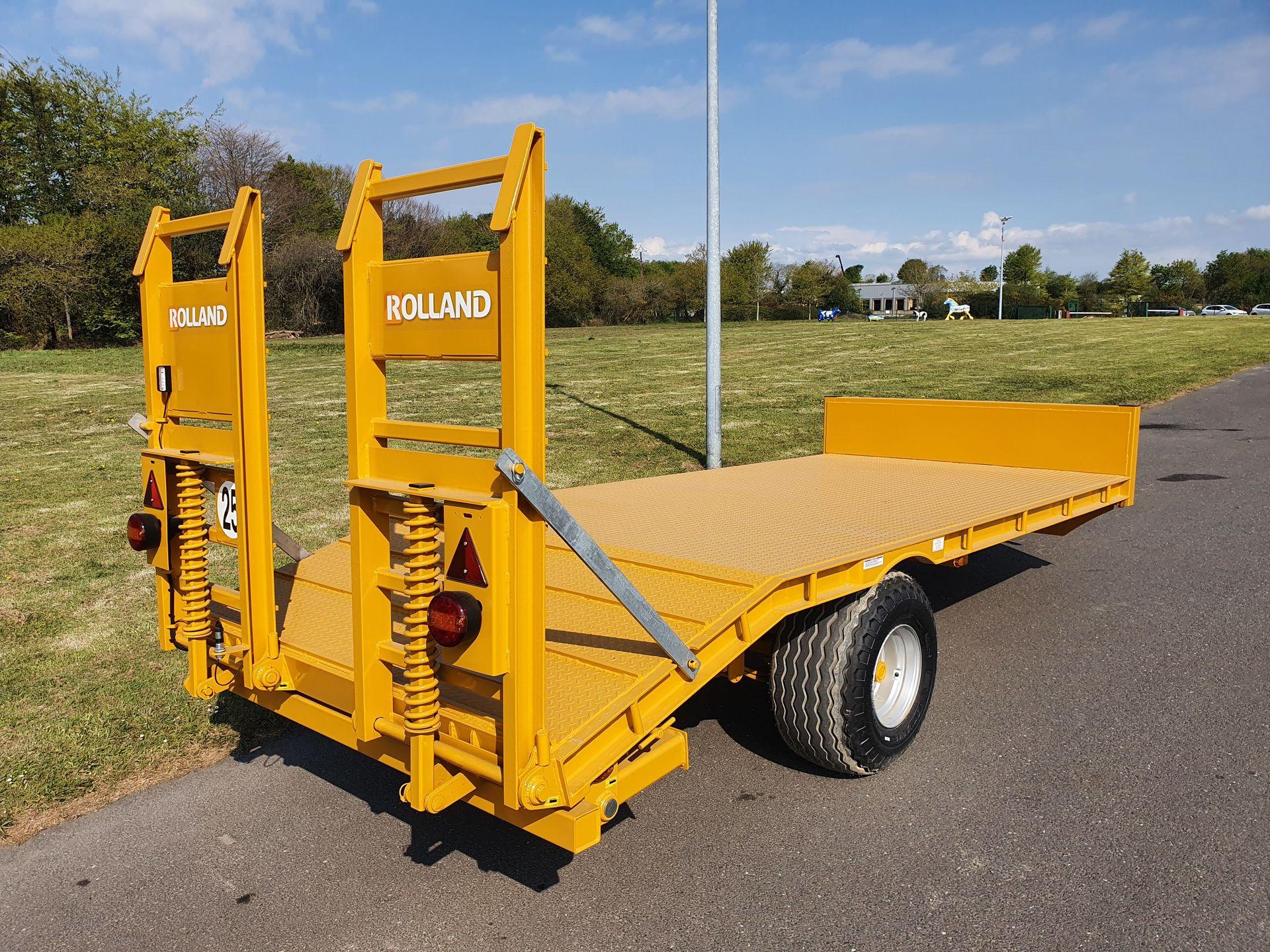 Porte engins pe 60 simple essieu remorques rolland for Porte engin 60 tonnes